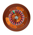 Casino Roulette isolated on white vector image