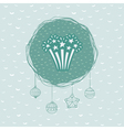 Christmas and New Year round frame with firework vector image vector image