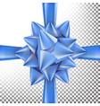 christmas gift bow bright ribbon design vector image vector image