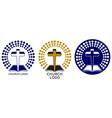 church logo symbol christianity cross and vector image