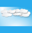 clouds set isolated on blue background vector image