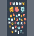 colorful cute and funny font vector image vector image