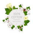 cotton realistic composition vector image vector image