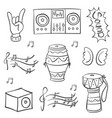 doodle of music theme art vector image vector image