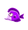 Dreamy Violet Fantastic Aquarium Tropical Fish vector image vector image