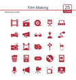 film making icons set vector image