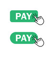 finger push on pay button icon vector image