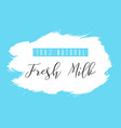 fresh milk splash badge vector image