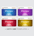 gift card templates vector image