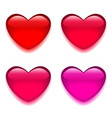 Glass red pink heart vector image vector image