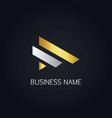 gold line business company logo vector image vector image