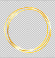 gold paint glittering textured frame vector image vector image