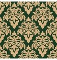 Green and beige seamless floral pattern vector image vector image
