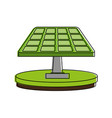 green solar panel icon image vector image vector image