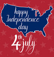 inscription happy independence day 4th july and vector image