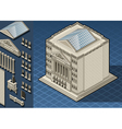 Isometric Stock Exchange Building in New York Wall vector image vector image