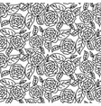 line rose wedding seamless pattern vector image vector image