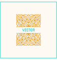 linear frame and floral background with copy space vector image vector image