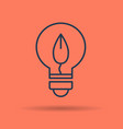 linear icon of eco lamp bulb with leaf vector image vector image