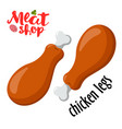 meat - chicken legs fresh meat icon vector image vector image
