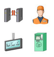 mechanismelectric transport and other web icon vector image vector image