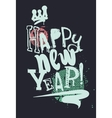 Modern creative poster Happy New Year Grunge style vector image vector image