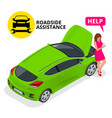 online roadside assistance automobile repair vector image vector image