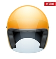 Orange motorbike classic helmet with clear glass vector image vector image