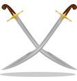 ottoman turkish scimitar pala kilij sword vector image
