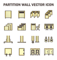 Partition wall icon vector image vector image