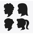 people head silhouette design vector image vector image