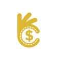 perfect money finance logo vector image