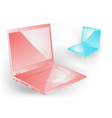 pink and blue notebooks vector image vector image