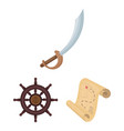 pirate sea robber cartoon icons in set collection vector image vector image