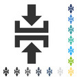 press vertical direction icon vector image vector image