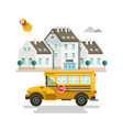 primary or high school exterior buildings vector image vector image