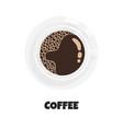 realistic cup coffee vector image vector image