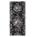 rug is done in a floral design vintage engraving vector image vector image