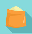 sack of flour icon flat style vector image
