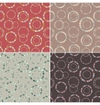 Seamless pattern set Stylish texture with rings vector image