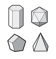set of basic geometric shapes geometric solids vector image vector image