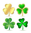 Set of clovers isolated on white vector image