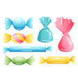 set sweets on white background - bar candy vector image