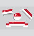 singapore flag stickers and labels vector image vector image