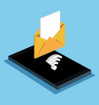 smartphone email message wifi internet vector image