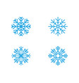 snowflakes style design for labels badges and vector image