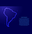 south america map from luminous blue star space vector image vector image