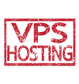 stamp text vps hosting vector image
