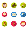 Stone age set icons in flat style Big collection vector image vector image
