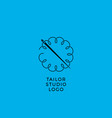 tailor sewing workshop emblem vector image vector image